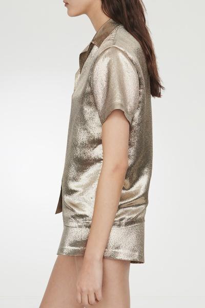 Свободная золотистая рубашка Maje 888125375 - 3