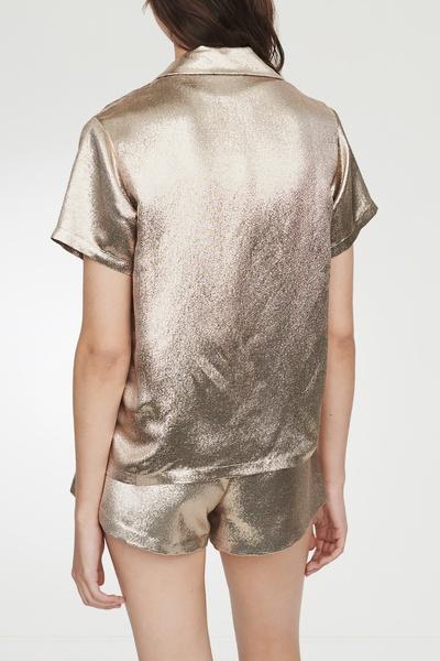 Свободная золотистая рубашка Maje 888125375 - 4