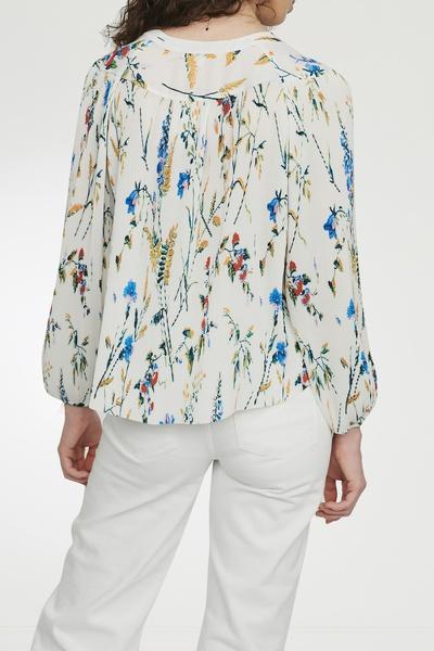 Плиссированная блузка с принтом Maje 888125183 - 3