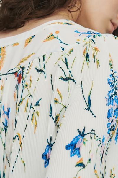 Плиссированная блузка с принтом Maje 888125183 - 6