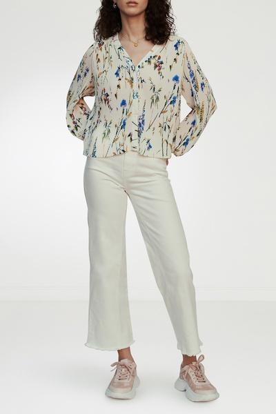 Плиссированная блузка с принтом Maje 888125183 - 7