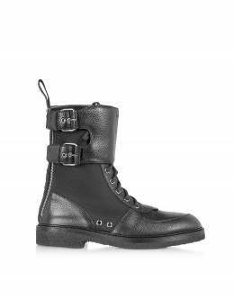 Ranger Boot - Сапоги из Кожи и Нейлона Balmain SM1C145LBNY EAP Noir/Noir 39
