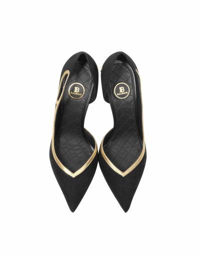 Miley - Черные Кожаные Туфли-Лодочки Balmain SN1C121LVKN 0PA Noir 35 - 4