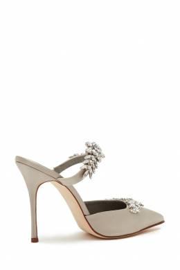 Серебристые туфли Lurum 105 Manolo Blahnik 166137389