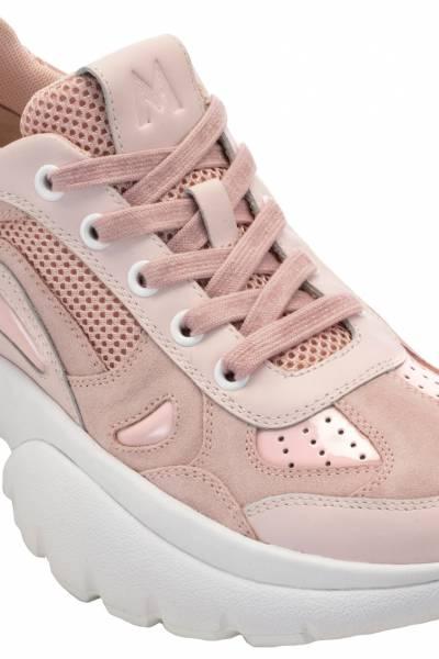 Розовые кроссовки с толстой подошвой Maje 888125141 - 4