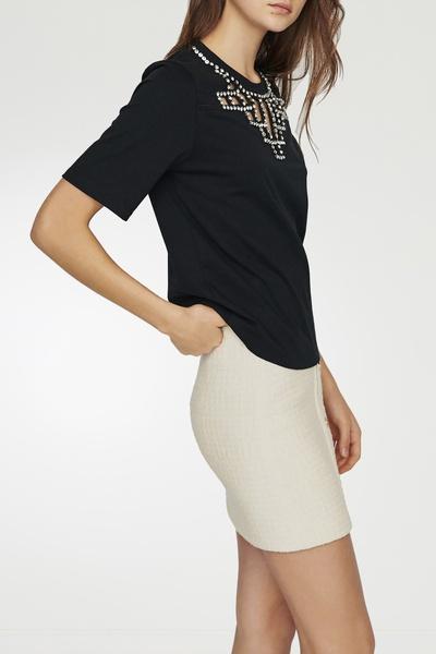 Черная футболка со стразами Maje 888125204 - 3