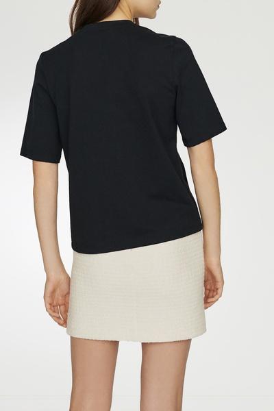 Черная футболка со стразами Maje 888125204 - 4