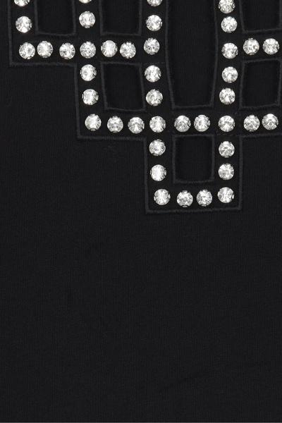 Черная футболка со стразами Maje 888125204 - 7