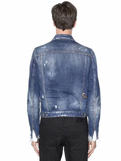 Куртка Из Джинсового Деним Со Вставкой Dsquared2 67I04Y078-NDcw0 - 5