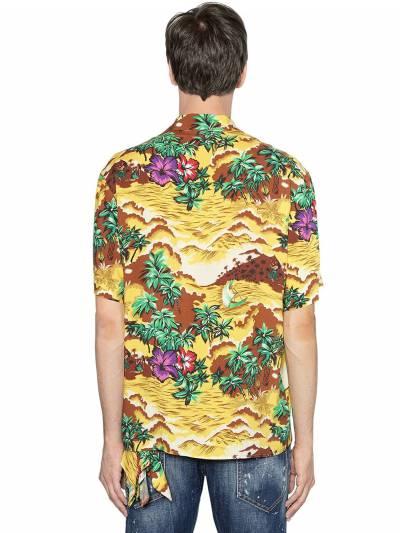 Рубашка В Стиле Боулинг Из Вискозы Dsquared2 67I04Y046-MDAxUw2 - 4
