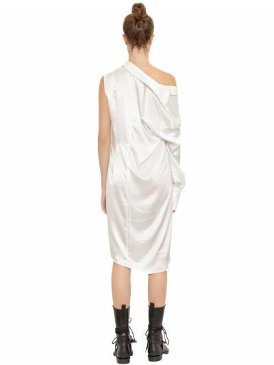 Ассиметричное Платье Из Атласа Ann Demeulemeester 67I019004-MDAy0 - 5