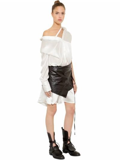 Ассиметричное Платье Из Атласа Ann Demeulemeester 67I019004-MDAy0 - 6