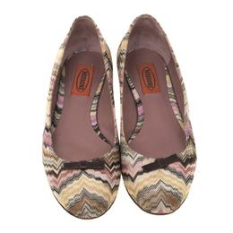 Missoni Multicolor Knit Ballet Flats Size 37 181453