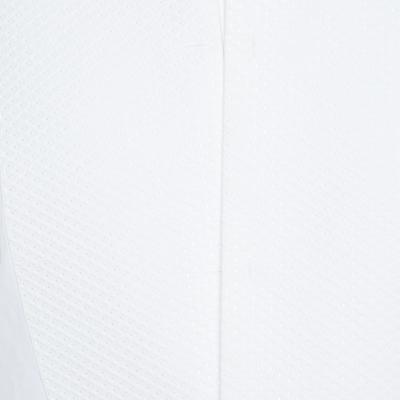 Dolce & Gabbana Gold Optic White Cotton Textured Bib Detail Tuxedo Shirt M 186312 - 3