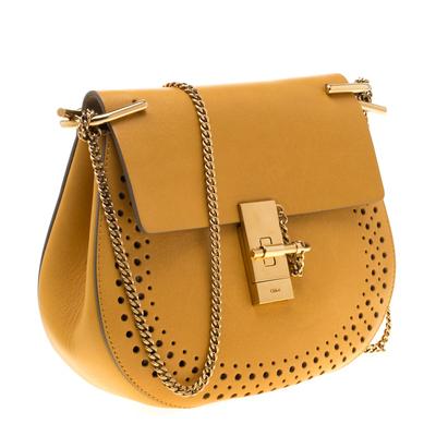 Chloe Mustard Leather Medium Drew Shoulder Bag 187167 - 3
