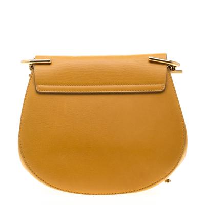 Chloe Mustard Leather Medium Drew Shoulder Bag 187167 - 4