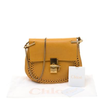 Chloe Mustard Leather Medium Drew Shoulder Bag 187167 - 10