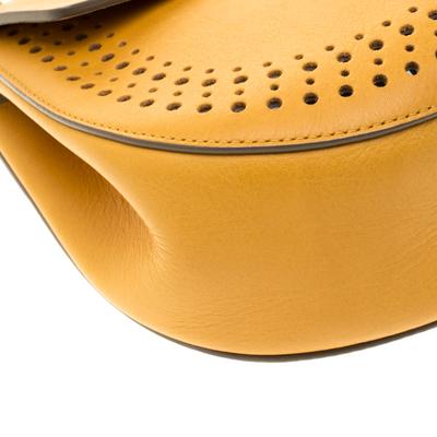 Chloe Mustard Leather Medium Drew Shoulder Bag 187167 - 11