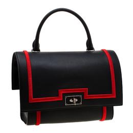 Givenchy Black/Red Leather Shark Tooth Shoulder Bag 193834