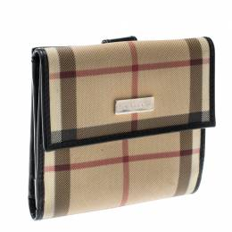 Burberry Beige House Check PVC Bifold Wallet 196502