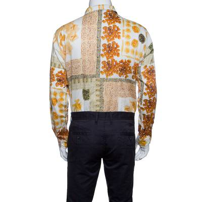 Etro Multicolor Pasta Print Long Sleeve Button Front Cotton Shirt XL 186294 - 3