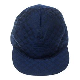 Emporio Armani Electric Blue Monogram Logo Embroidered Baseball Cap M 175698