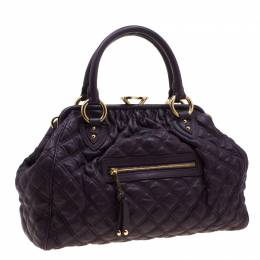 Marc Jacobs Purple Quilted Leather Stam Shoulder Bag 201379