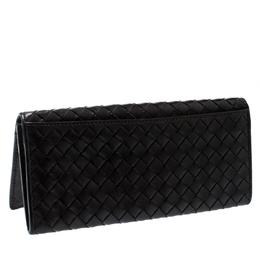 Bottega Veneta Brown Intrecciato Leather Continental Wallet 203654