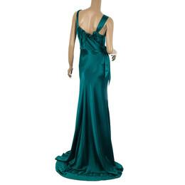 Vera Wang Flowing Satin Evening Gown M 24343