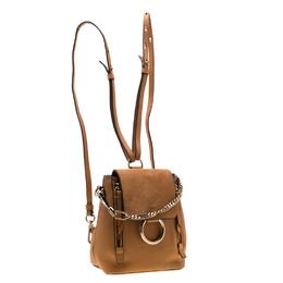 Chloe Brown Leather and Suede Mini Faye Daye Shoulder Bag 198545