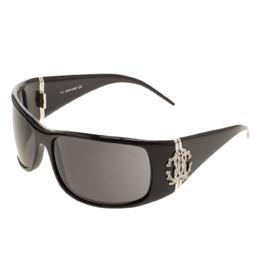 Roberto Cavalli Black 226S Cerbero Rectangular Sunglasses 127107