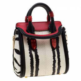 Alexander McQueen Multicolor Python, Calfhair and Leather Mini Heroine Shoulder Bag 197213