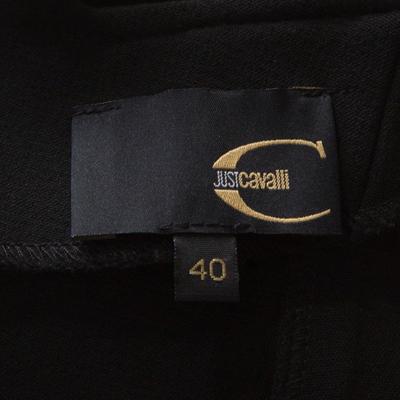 Just Cavalli Black Knit Cutout Back Detail Sleeveless Midi Dress S 186108 - 4