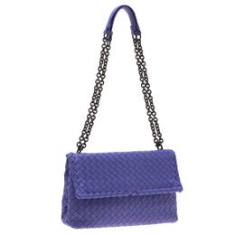 Bottega Veneta Purple Intrecciato Leather Olimpia Shoulder Bag 199092