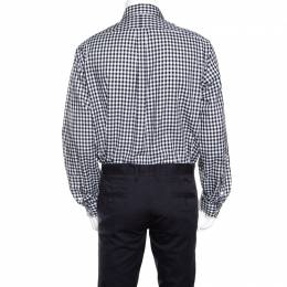 Ralph Lauren Monochrome Gingham Checked Cotton Button Down Shirt XL 159931