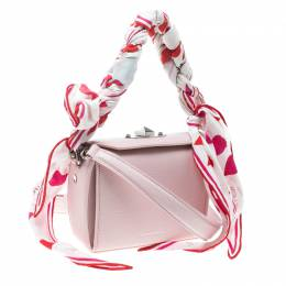 Alexander McQueen Blush Pink Leather Scarf Box Shoulder Bag 166159