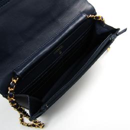 Chanel Blue Denim WOC Clutch Bag 181046