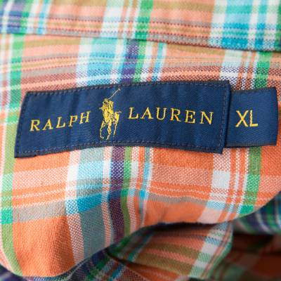 Ralph Lauren Multicolor Checked Cotton Logo Embroidered Button Down Shirt XL 186286 - 4