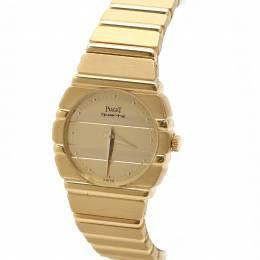 Piaget Champagne 18K Yellow Gold Polo 861C701 Women's Wristwatch 23MM 198963