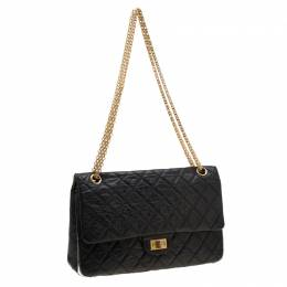 Chanel Black Quilted Leather Reissue 2.55 Classic 226 Flap Bag 207772