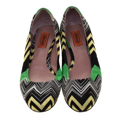 Missoni Multicolor Knit Ballet Flats Size 41 186847 - 2
