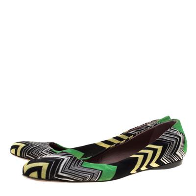 Missoni Multicolor Knit Ballet Flats Size 41 186847 - 3