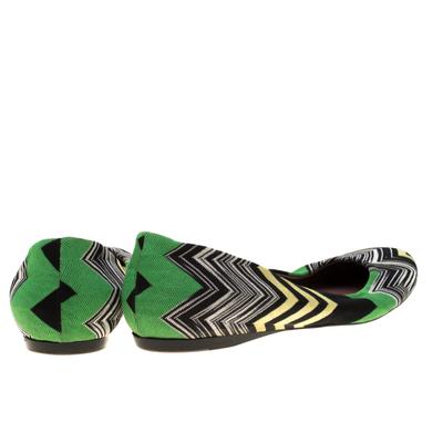 Missoni Multicolor Knit Ballet Flats Size 41 186847 - 4