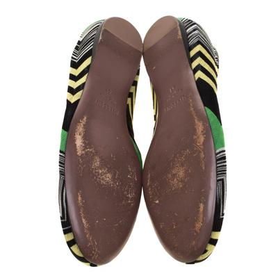 Missoni Multicolor Knit Ballet Flats Size 41 186847 - 5