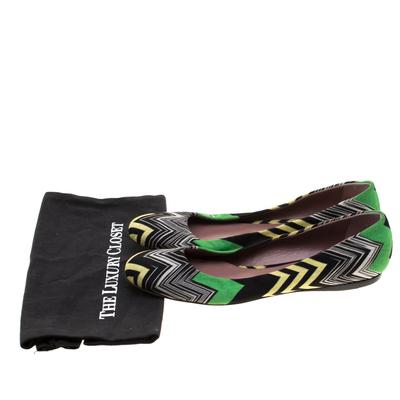 Missoni Multicolor Knit Ballet Flats Size 41 186847 - 7