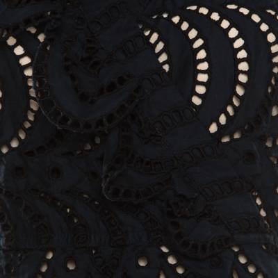Marc By Marc Jacobs Navy Blue Eyelet Embroidered Ruffle Detail Edith Dress S 186154 - 3