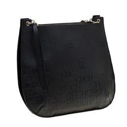 Carolina Herrera Black Leather Castanuela Messenger Bag 184608