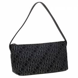 Carolina Herrera Black Signature Canvas Pochette Bag 208498