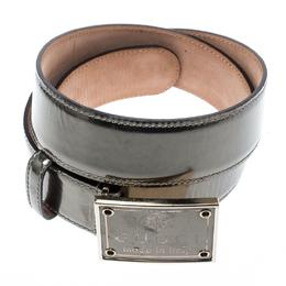 Gucci Metallic Leather Buckle Belt 95 CM 185572