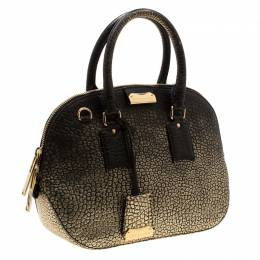 Burberry Gold/Black Ombre Leather Small Orchard Bowler Bag 209840